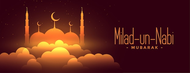 Milad un nabi shiny festival glowing banner