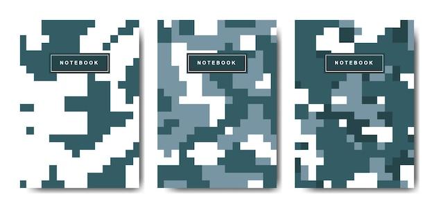 Военный и армейский пиксельный камуфляжный чехол для ноутбука