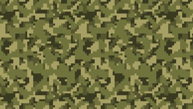 Военный и армейский пиксельный камуфляжный фон