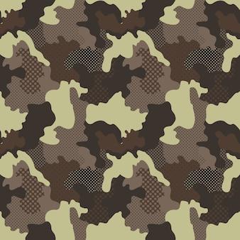 ミリタリーとカモフラージュのパターン