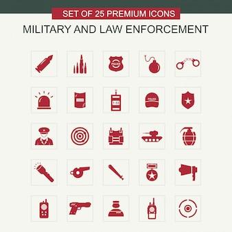 Набор иконок для военных и правоохранительных органов