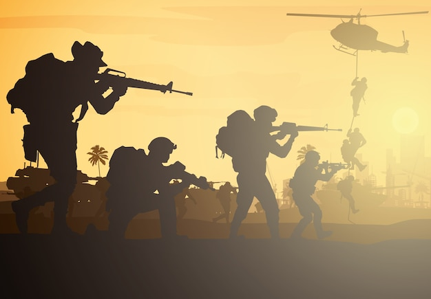 군사, 육군 배경.