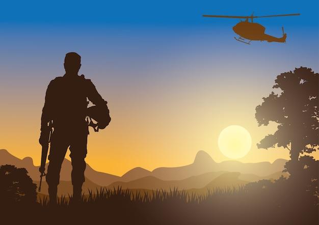 Военный, армейский фон.