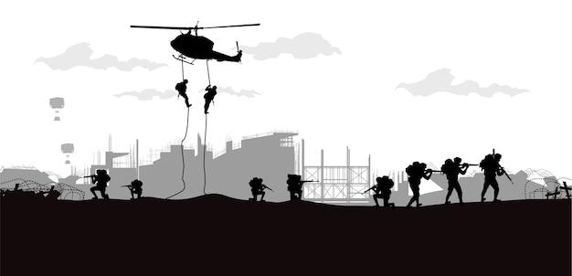 軍隊、軍隊の背景。