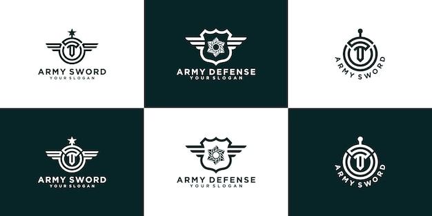 군대 방어 로고 컬렉션