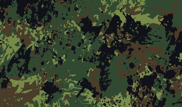 Military background in grunge style