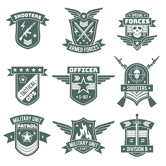 Military badges army patches embroidery chevron with ribbon