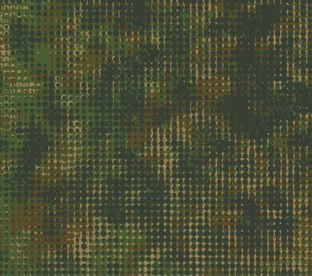 Military camouflage background in grunge style