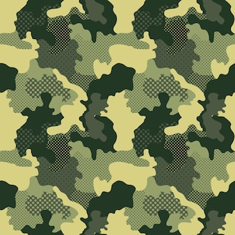 Military and camouflage pattern