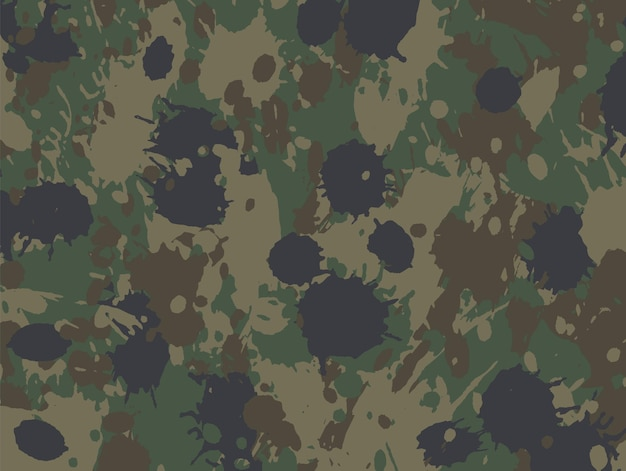 Military camouflage splatters background