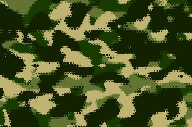 Military camouflage texture in green shade pattern