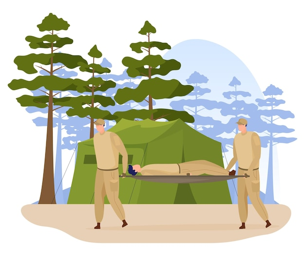 Military camp training of soldiers infantry in camouflage uniform tactical base