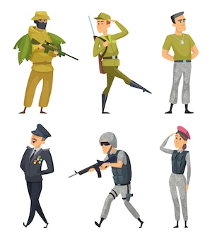 Military characters set