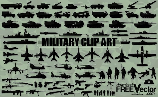 Military clip art silhouettes