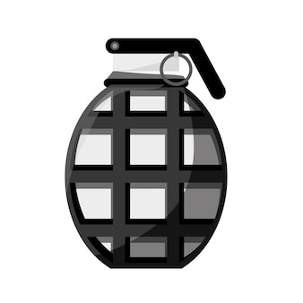 Military equipment contour grenade icon image