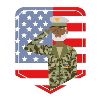 Military force man