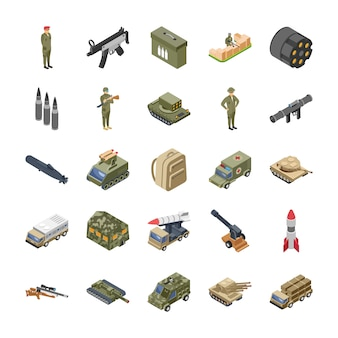 Military forces army icons pack