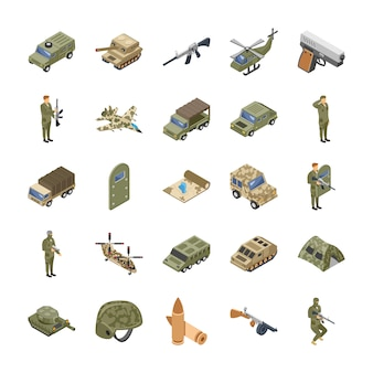 Military forces icons