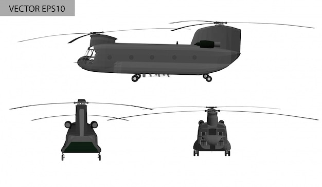 Military helicopter boeing