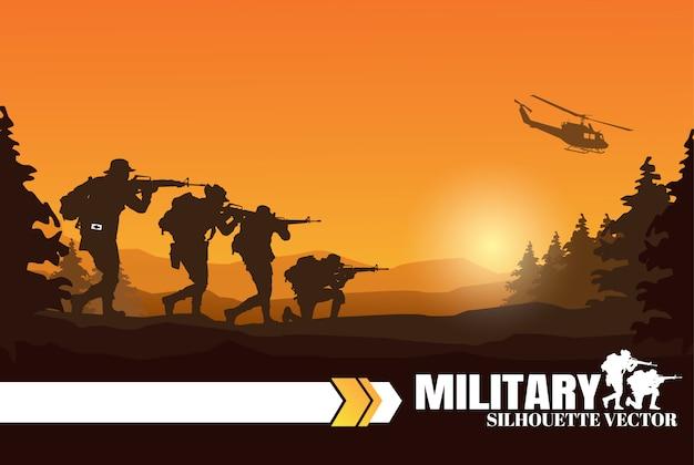 군사 그림, 육군 배경입니다.