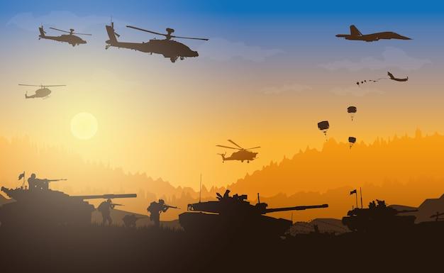軍のイラスト、軍の背景。