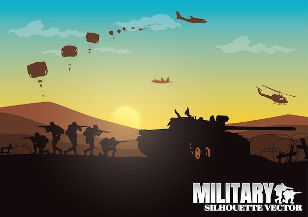 軍事イラスト。