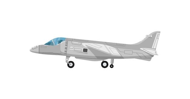 Военный реактивный самолет изолированный значок