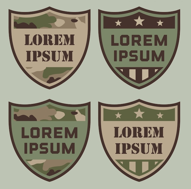 Military shield badges