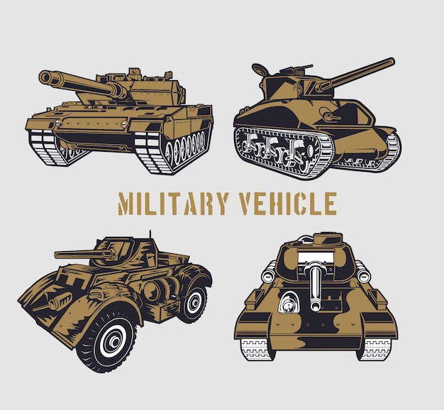 Military tank set