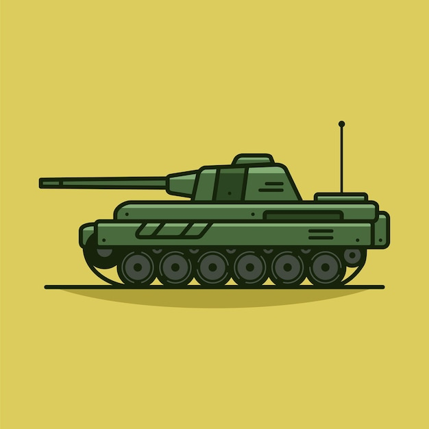 Military tank vector icon illustration military vehicle vector