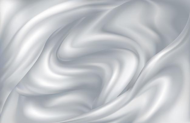 Молочный фон кружащихся волн молока или йогурта