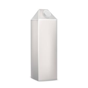 Milk beverage blank carton box packaging vector