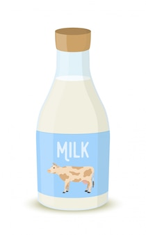 牛乳瓶、農産物。ナチュラルドリンク。