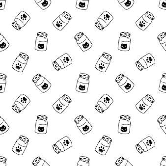Milk bottle seamless pattern