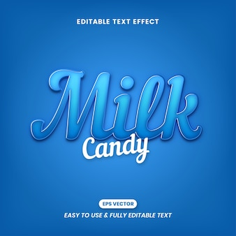 Milk candy text effects