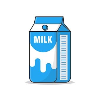 Молоко картонные коробки значок иллюстрации изолированные