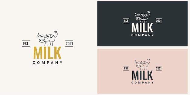 Milk company logo template design