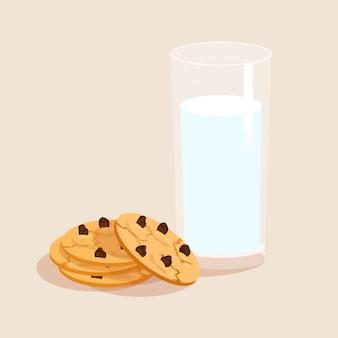 Milk and cookies decorative set