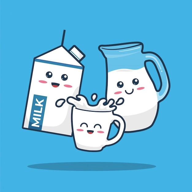 Milk cute character