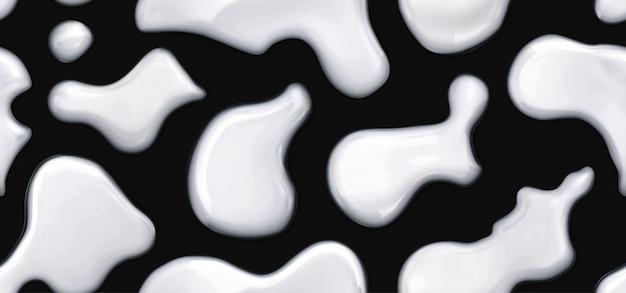 Молоко капли бесшовные векторные шаблон