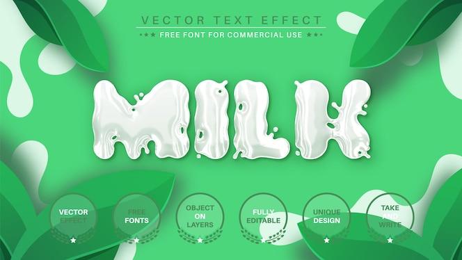ミルク編集テキスト効果編集可能なフォントスタイル