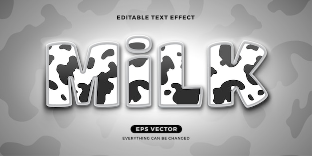 Milk editable text effect