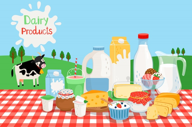 Milk farm products