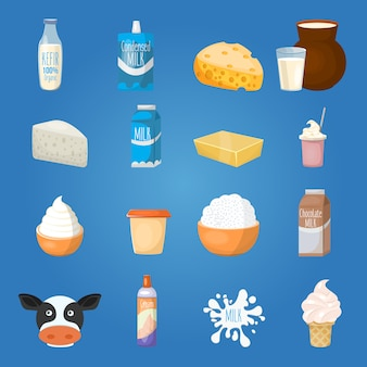 Milk food elements set