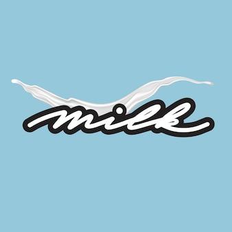 Этикетка молока для дизайна продукта. логотип молока.