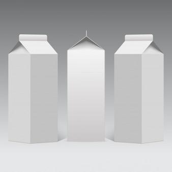 Milk or juice carton packaging package.