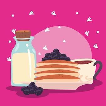 Milk and pancakes