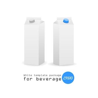 Milk paper box design mockup on white background