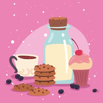 Milk and pastry products