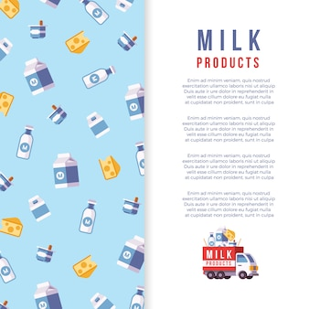 Milk production poster template